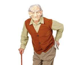 Bejaarden kostuum