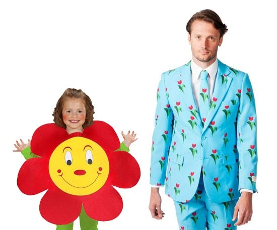 Bloemen kostuum