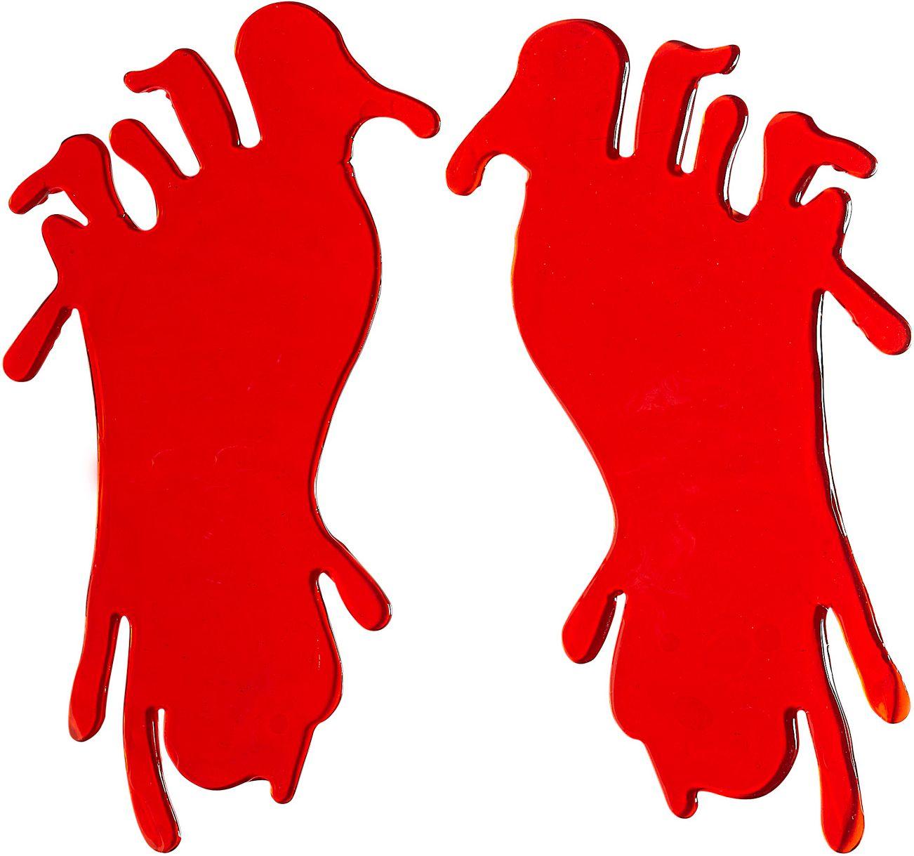 2 bloedige voet raam stickers