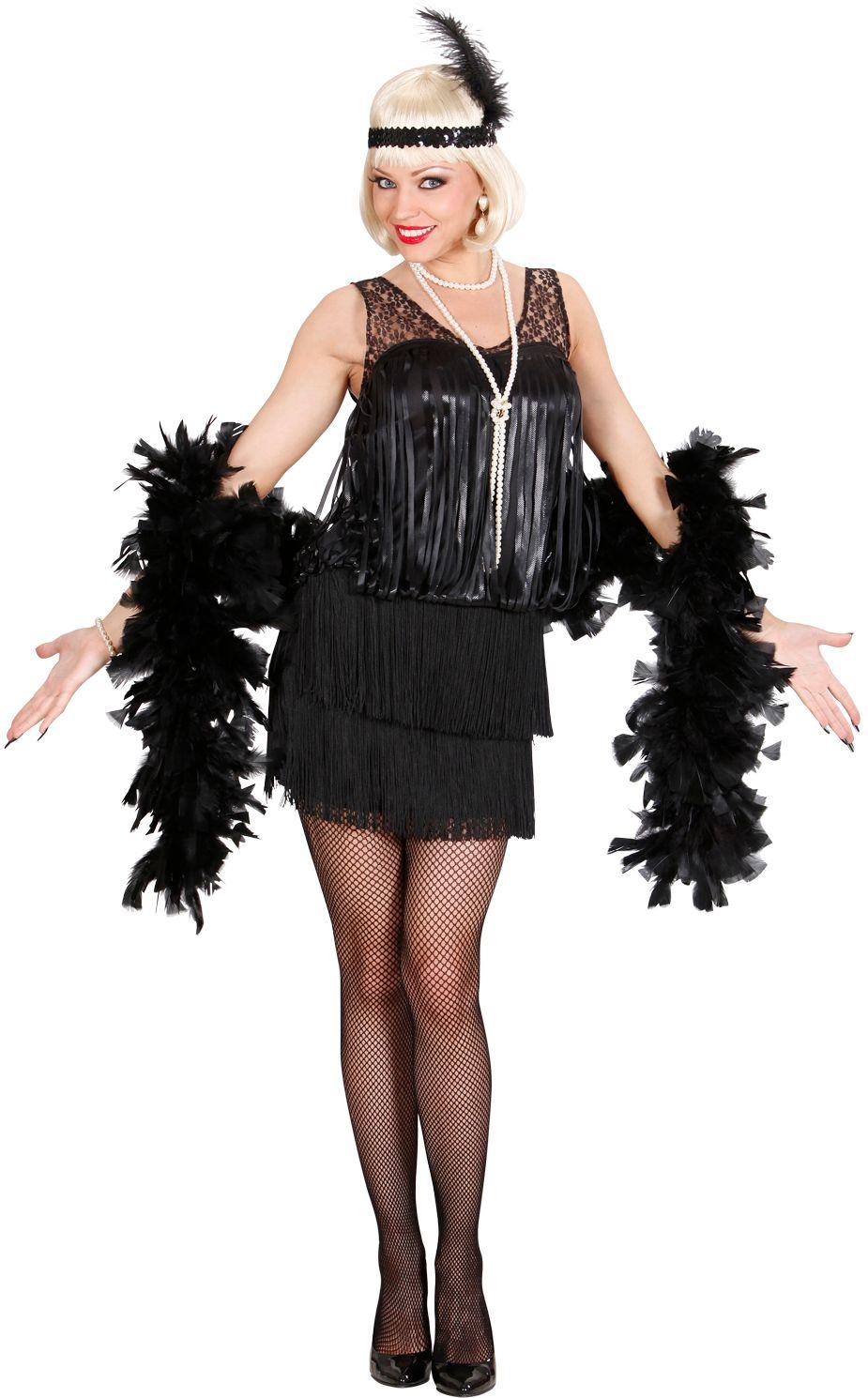 20s Charleston zwart kostuum