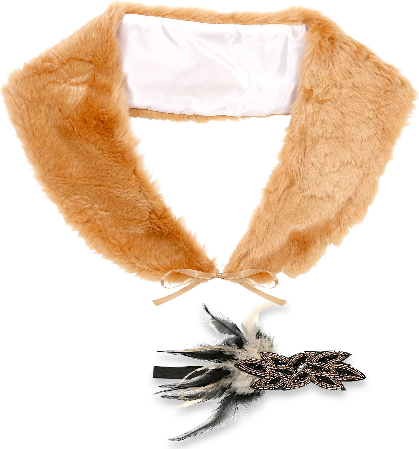 20s flapper accessoire set bruin vrouwen