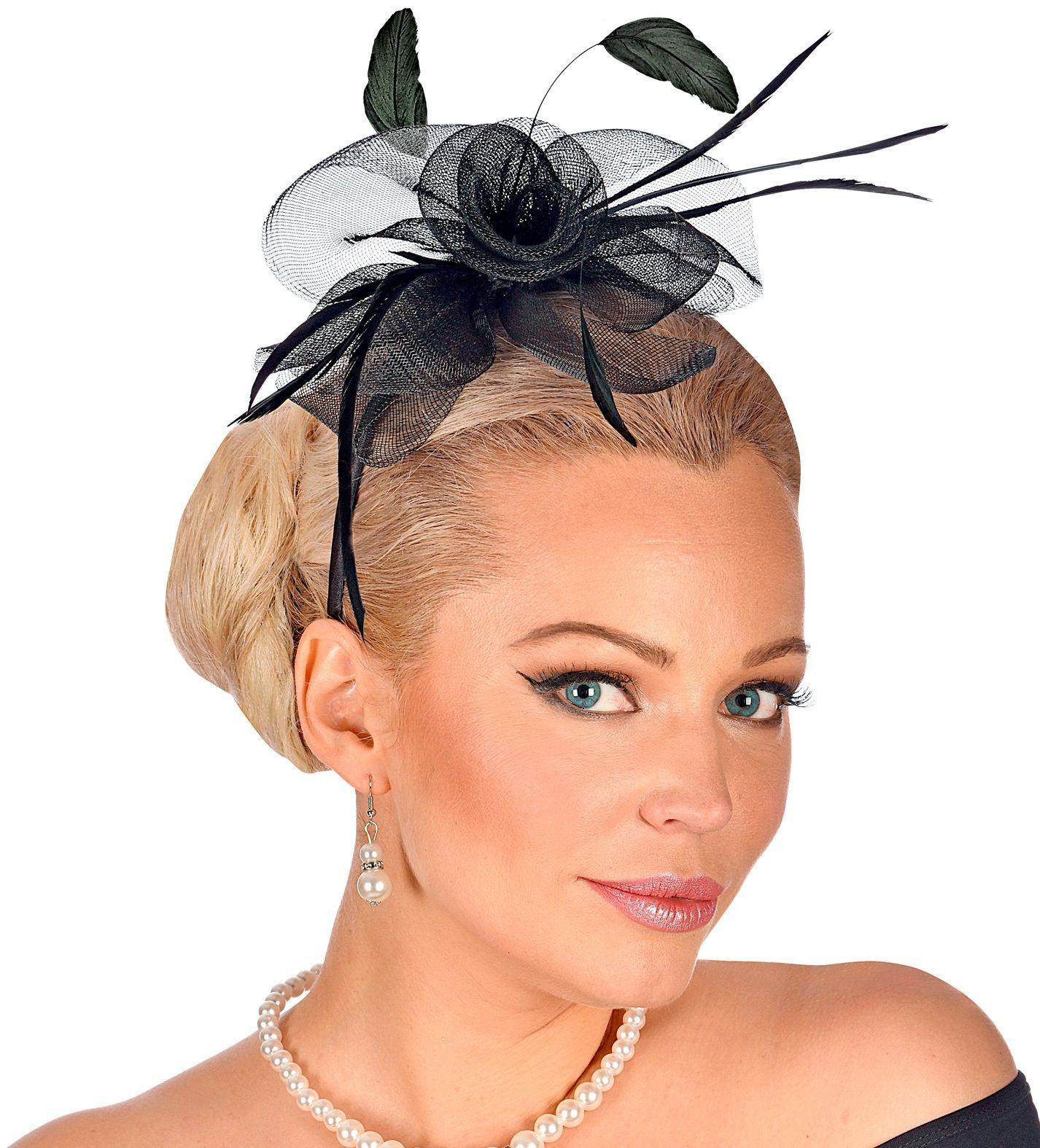 20s haarband zwart cocktail