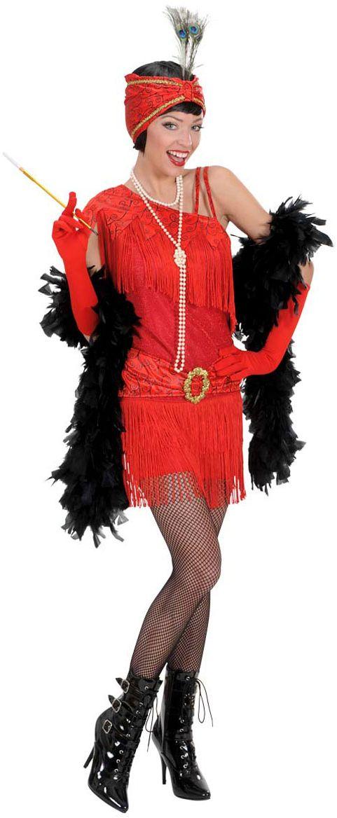 20S rode flapper jurk rotterdam