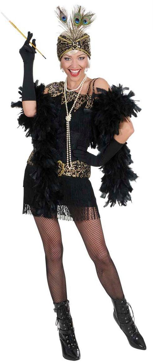 20S zwarte flapper jurk amsterdam