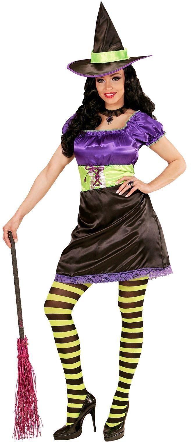 3 kleuren heksen jurk
