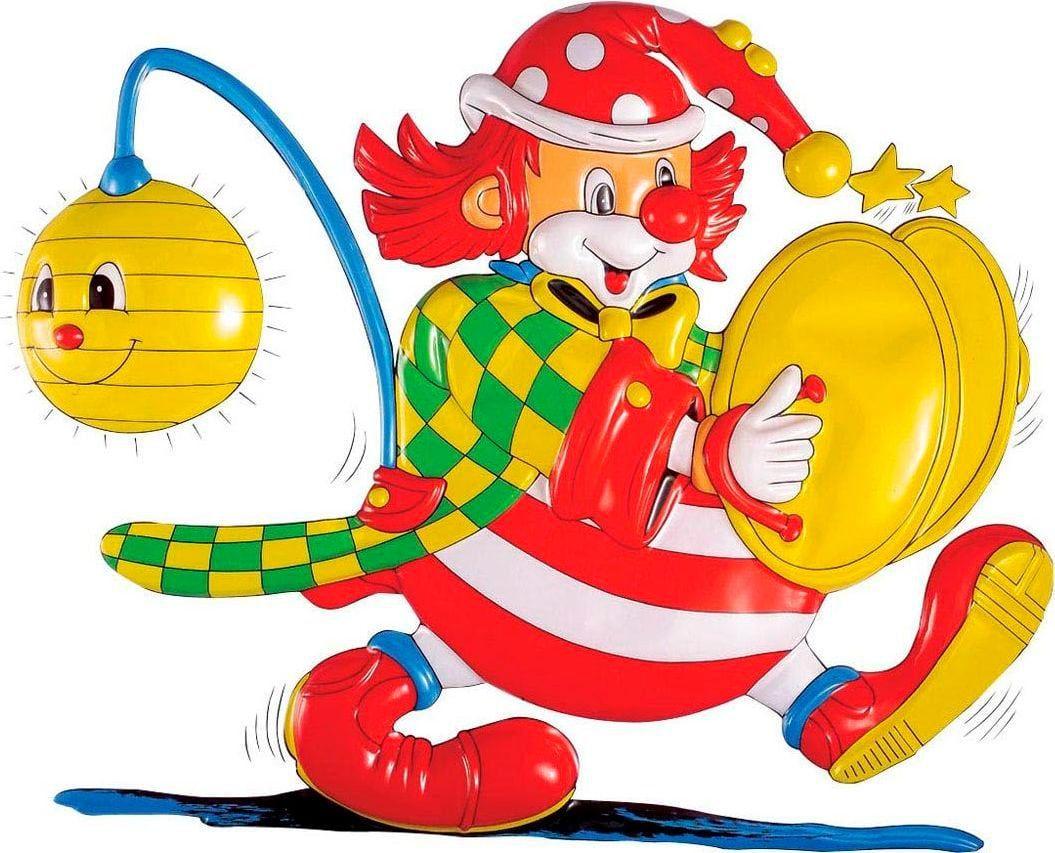 3D clown met bekkens decoratie