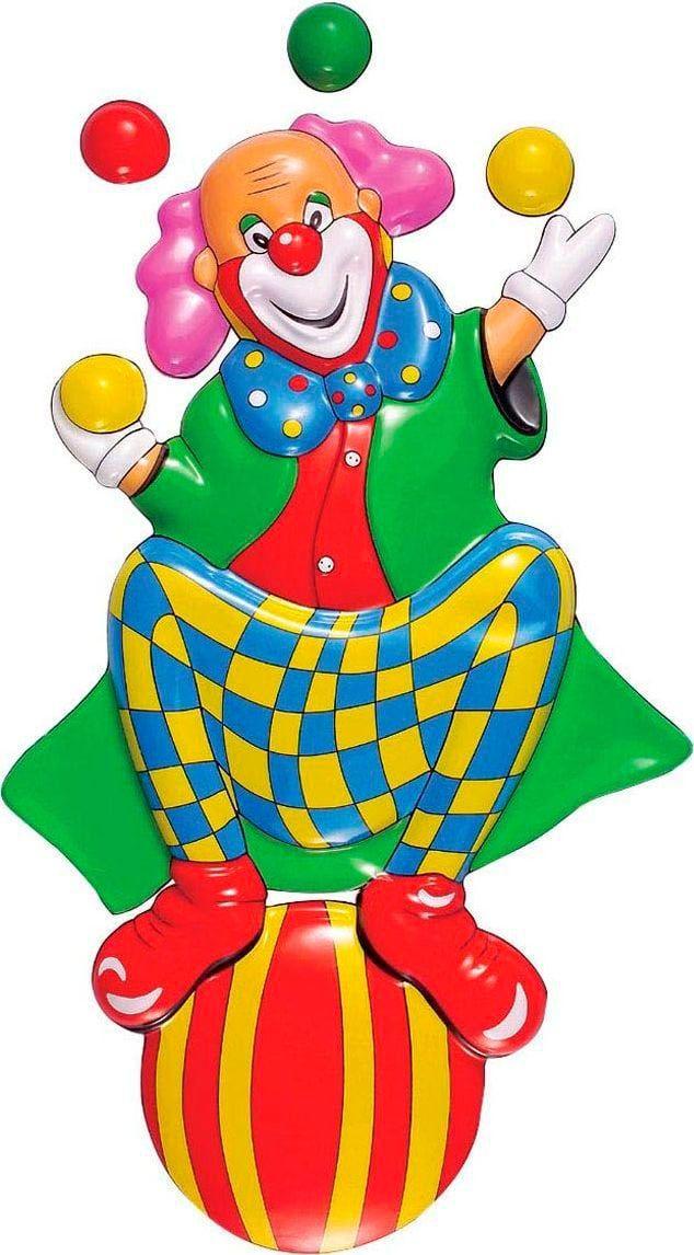 3D clown op bal decoratie