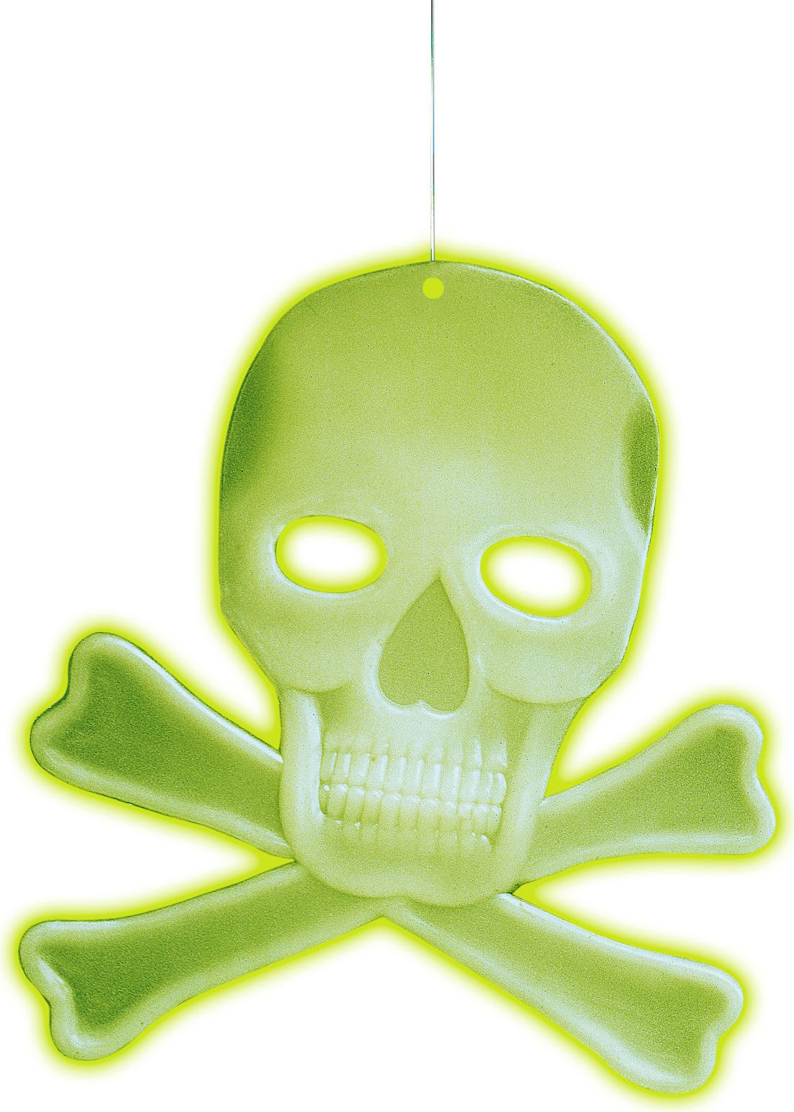 3D glow in the dark schedel en botten