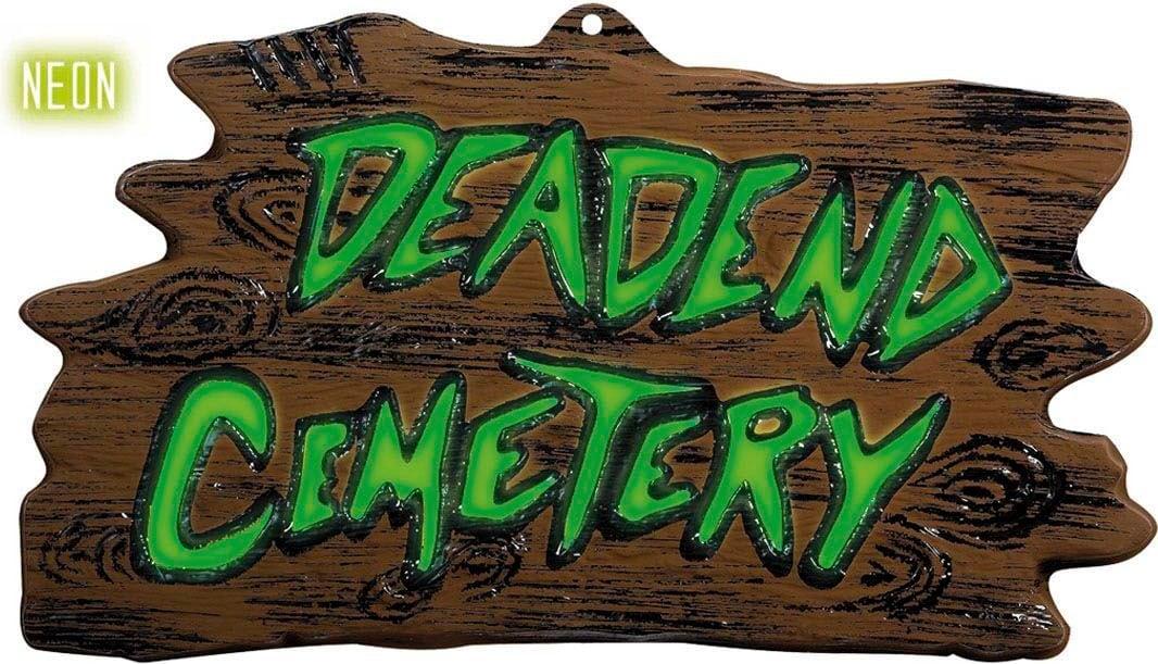 3D neon begraafplaats bord