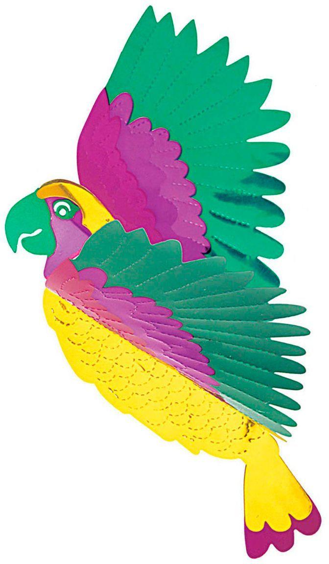 3D papieren papegaai decoratie