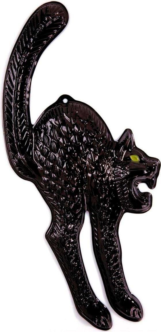 3D zwarte kat met glow in the dark ogen