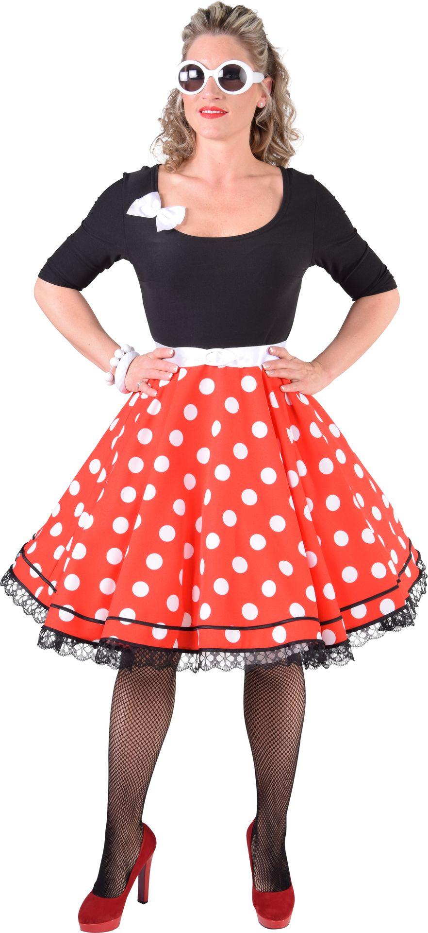 50s jurk met stippen dames