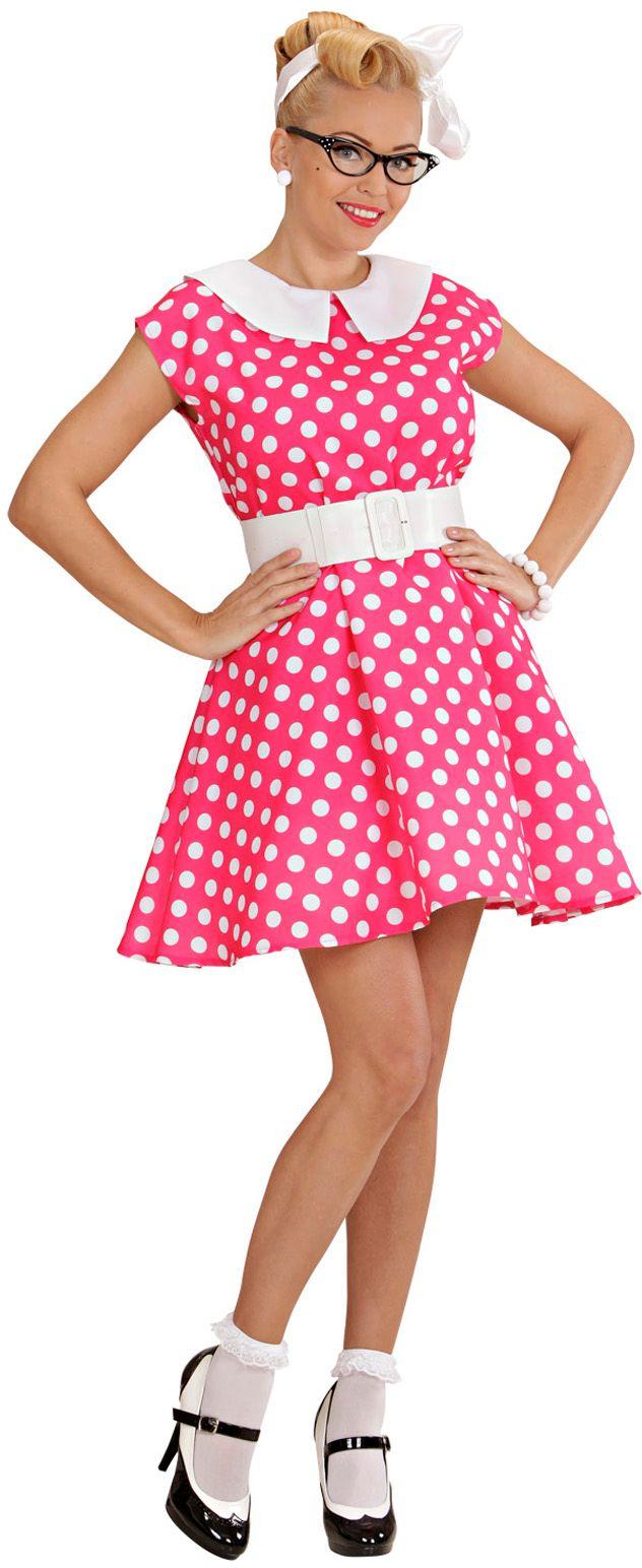 50s jurk, roze
