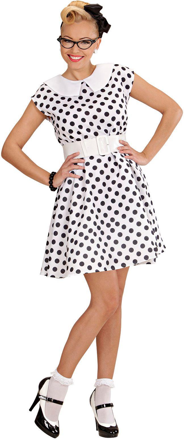 50s jurk, wit