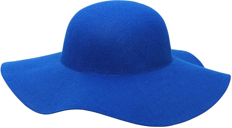 60s vrouwen hoed blauw
