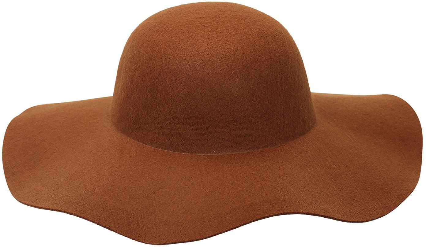 60s vrouwen hoed bruin