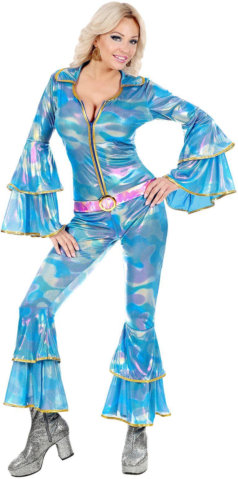 70s disco jumpsuit vrouw