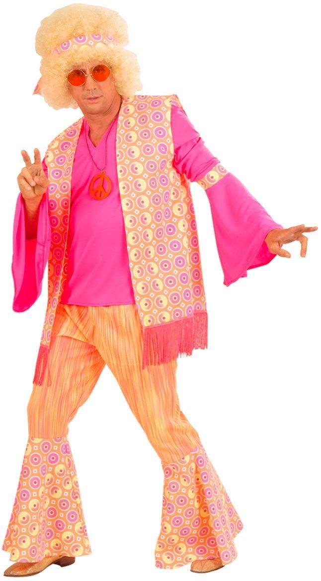 70s Hippie kostuum, roze