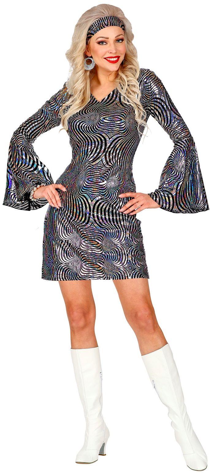 70s jurkje zilver dames