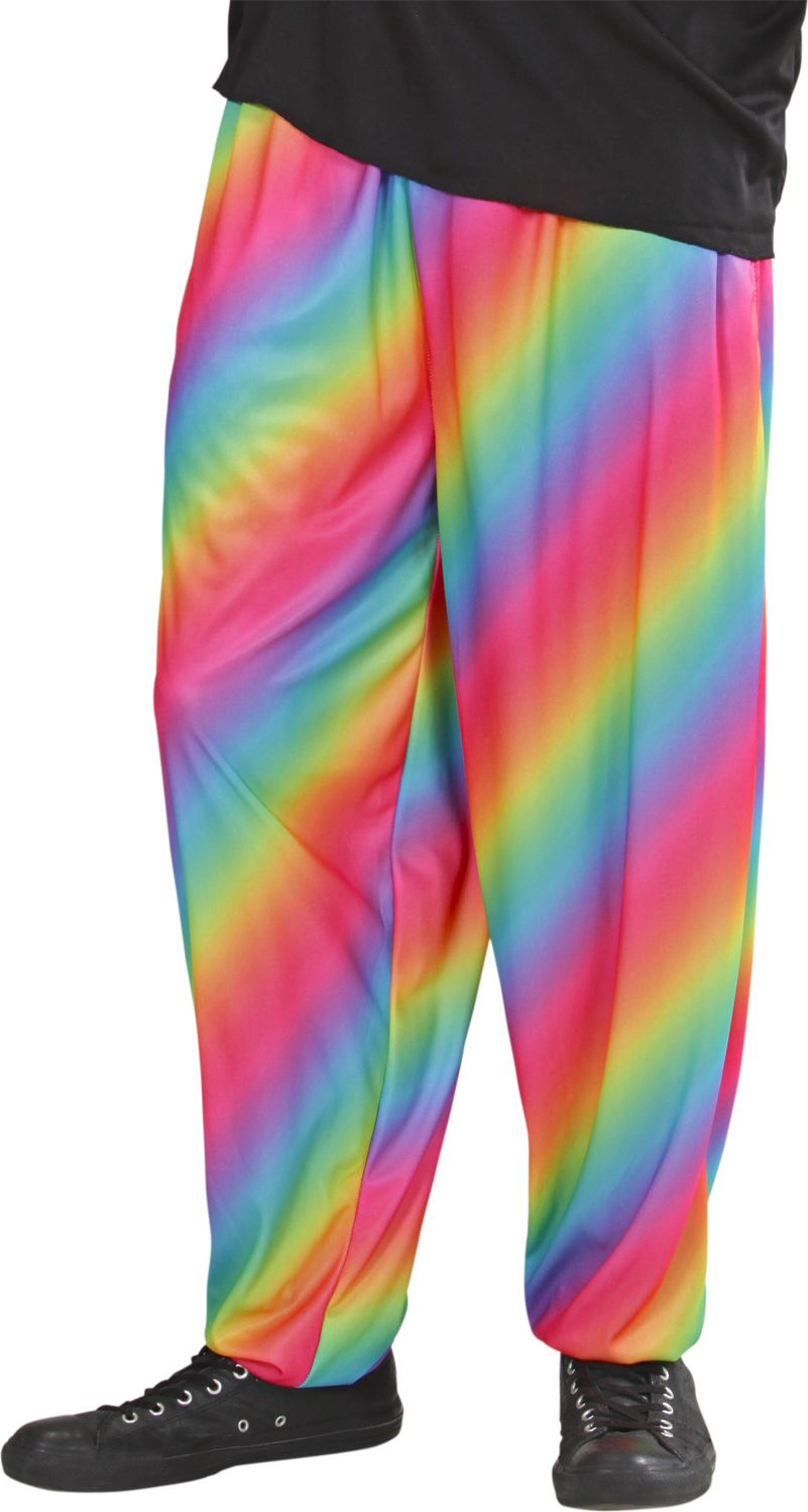 80S baggy regenboog broek