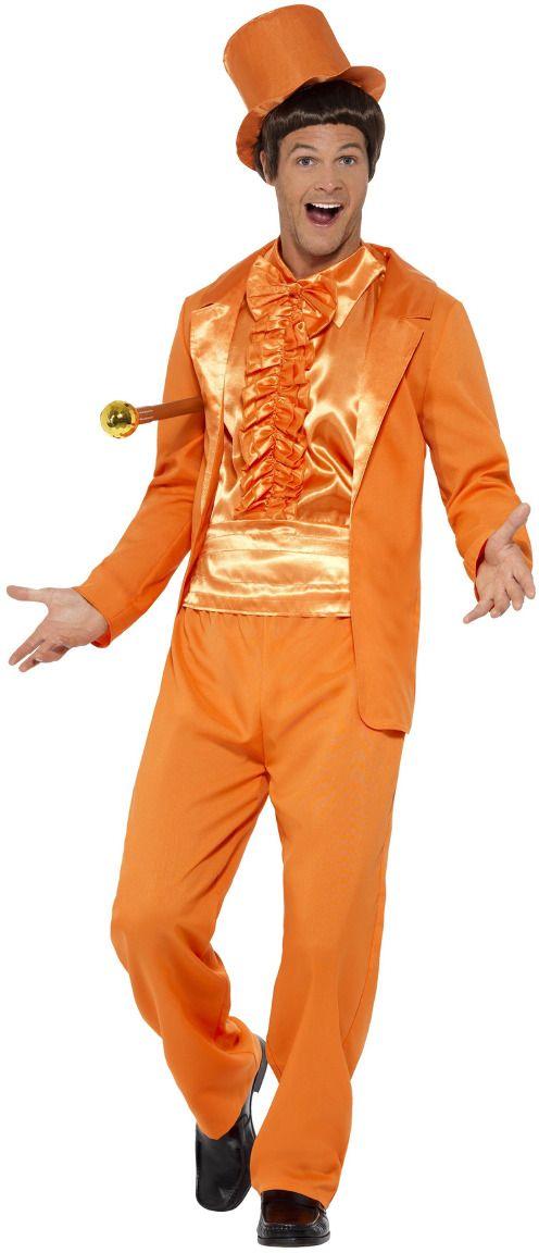 90s sullig oranje maatpak