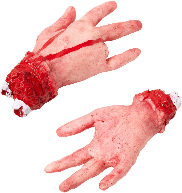 Afgehakte hand met afgehakte vinger