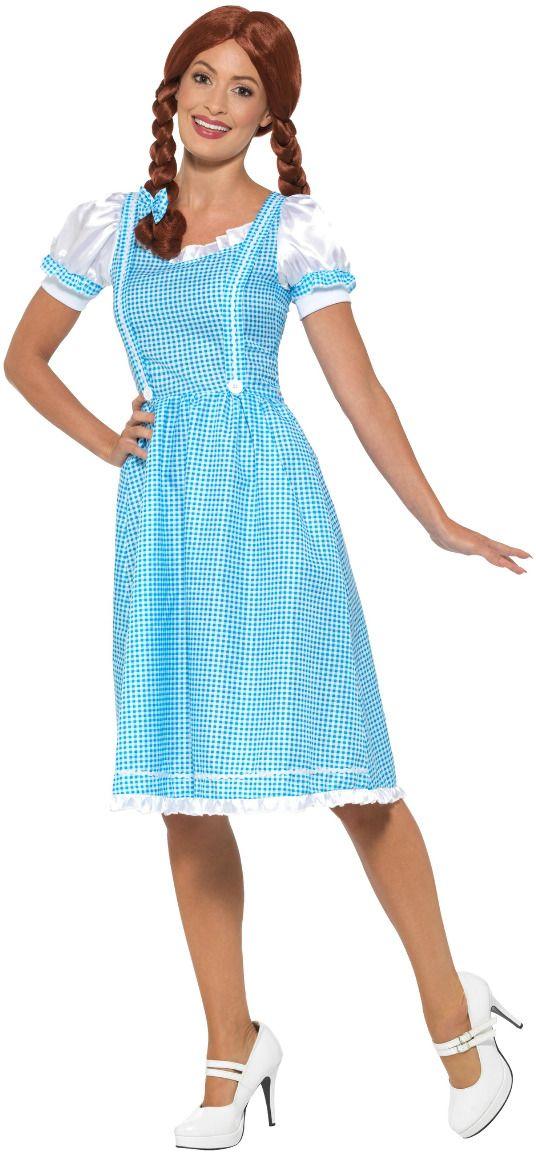 Alice in Wonderland blauw witte jurkje