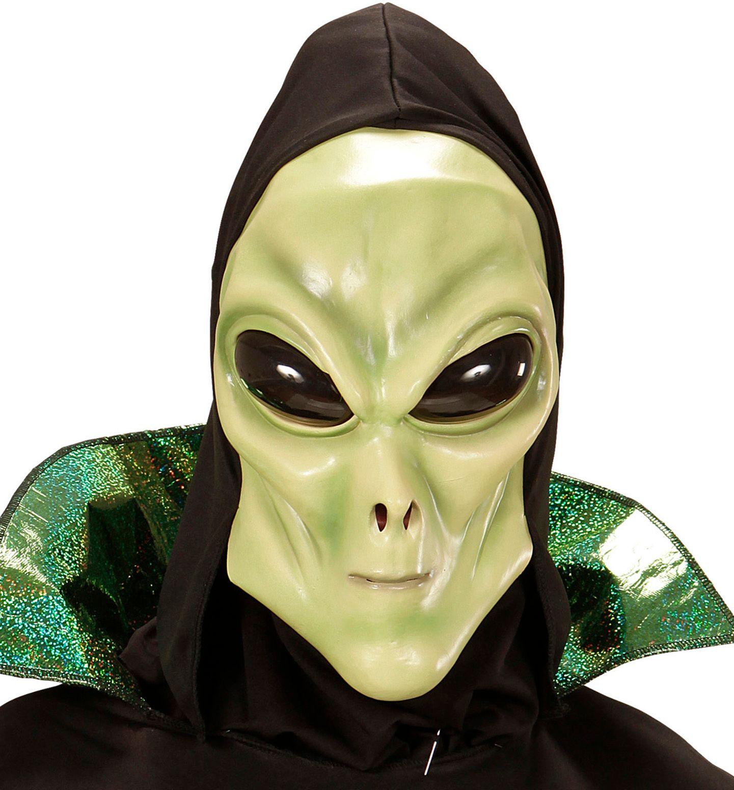 Alien masker met muts kind