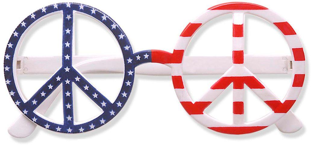 Amerikaanse hippie bril