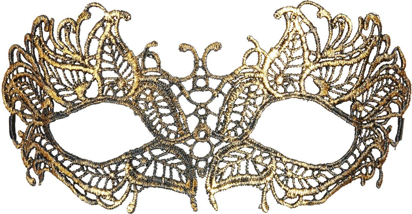 Antieken gouden kanten oogmasker