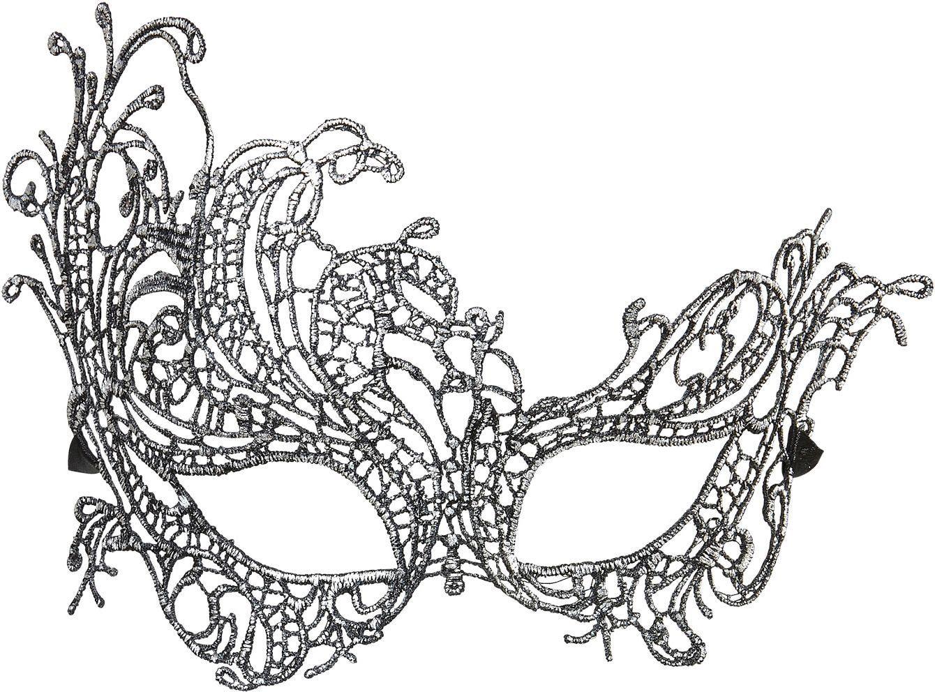 Antieken zilveren barok oogmasker
