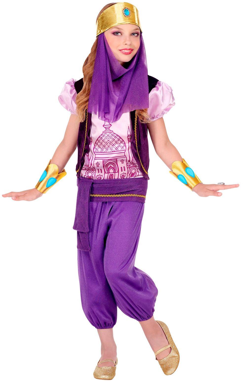 Arabische prinses pak paars