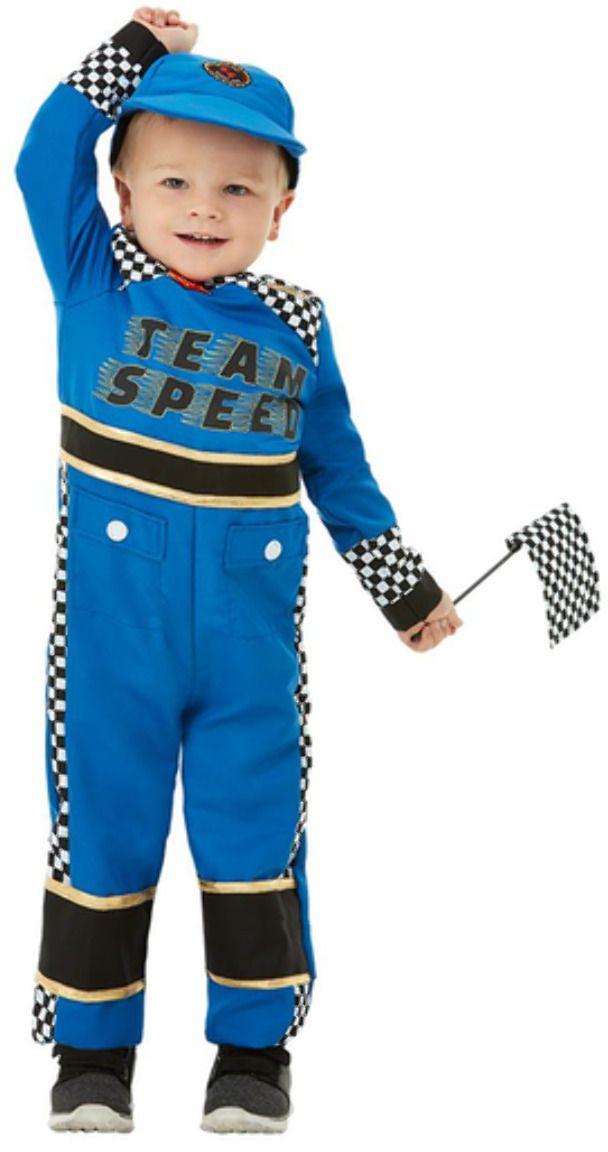 Autocoureur blauw outfit peuter
