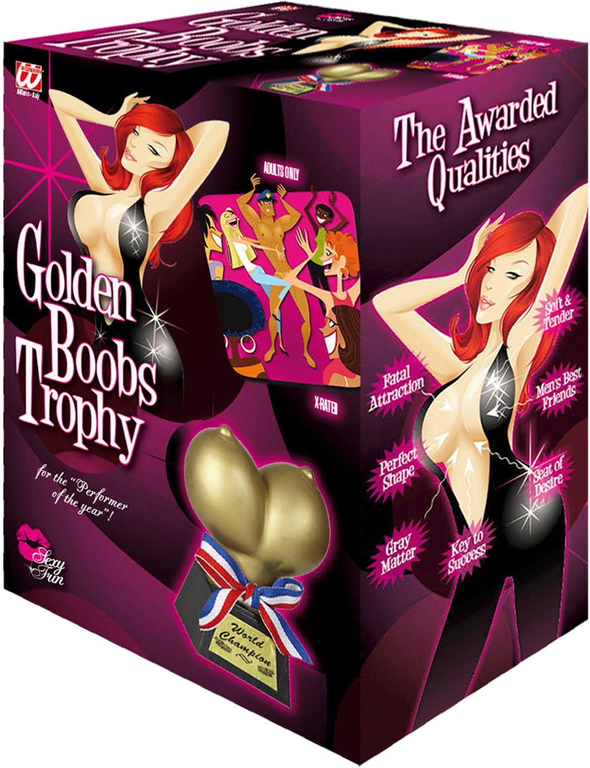 Award prijs gouden borsten