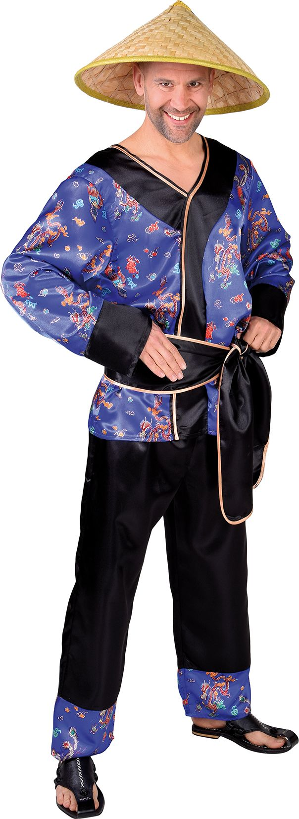 Aziatisch kostuum heren