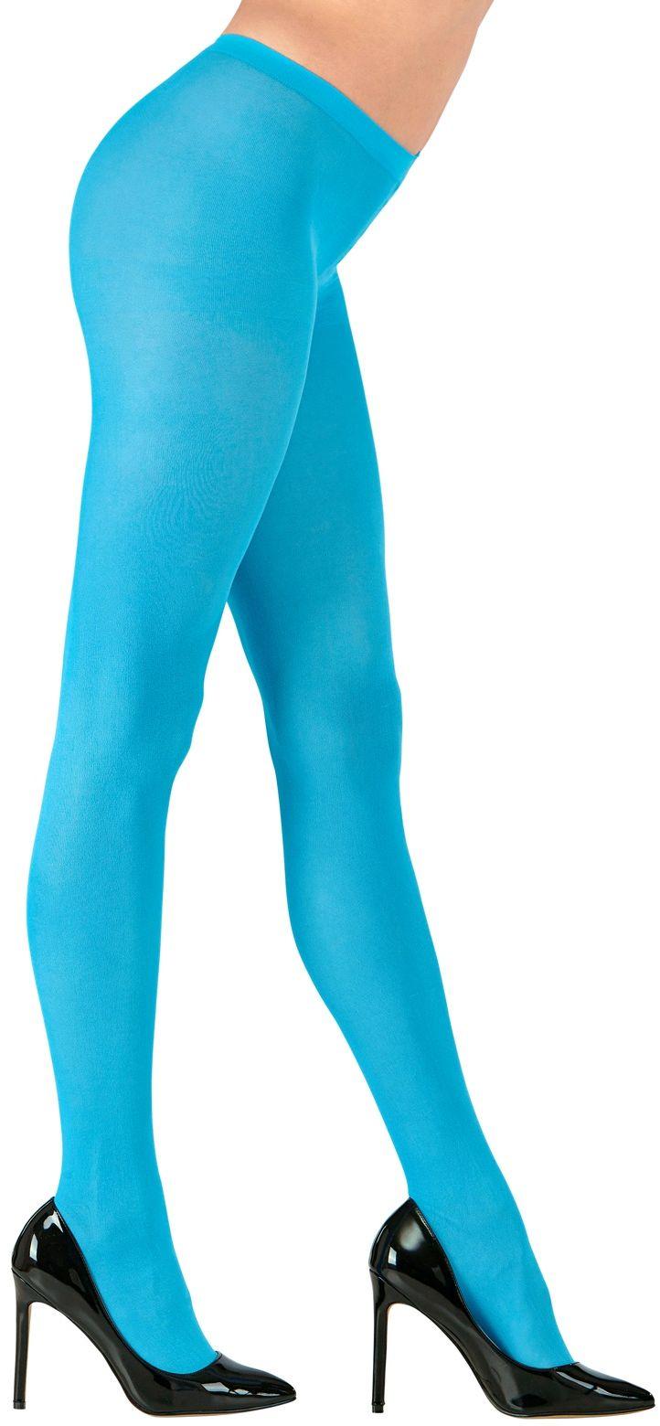 Azuurblauwe panty