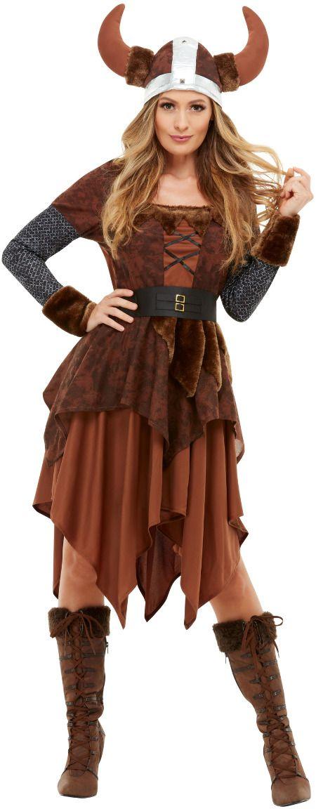Barbaarse viking kostuum vrouw