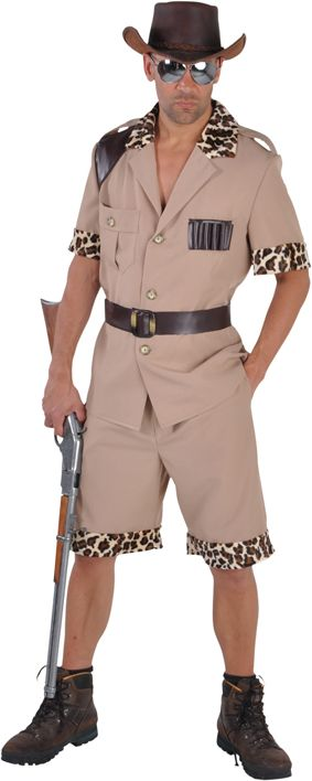 Beige safari outfit heren
