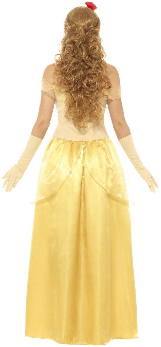 Belle en het Beest gouden jurk
