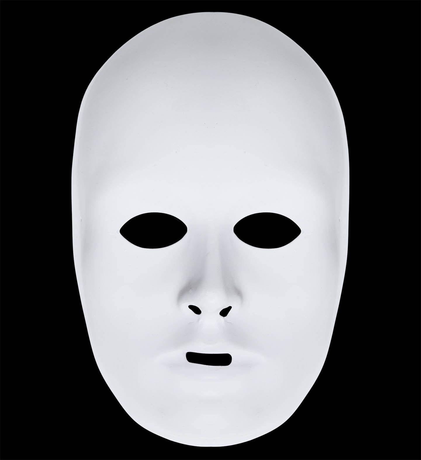 Beschilderbaar wit uniseks masker