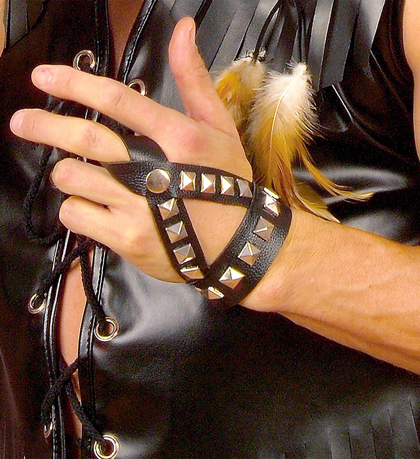 Bespijkerde biker vingerhandschoenen