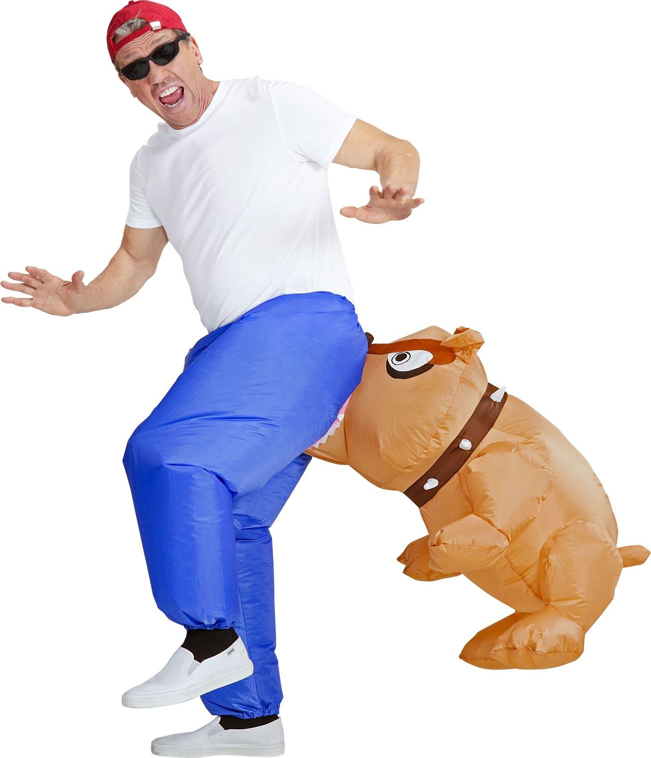 Bijtende bulldog kostuum opblaasbaar