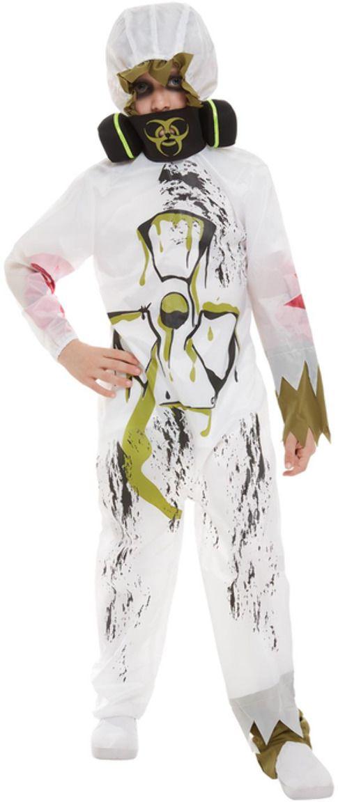 Biohazard wit jongens kostuum