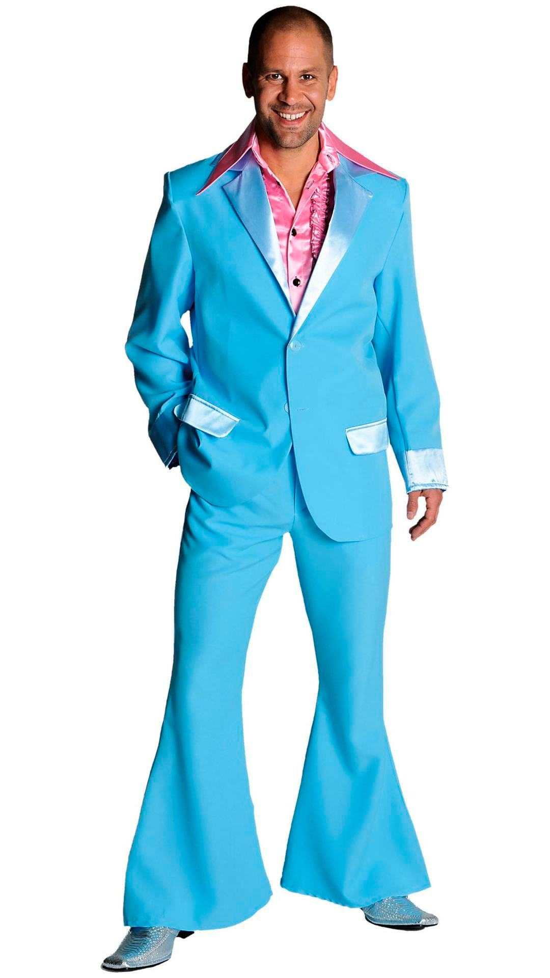 Blauw 70s pak