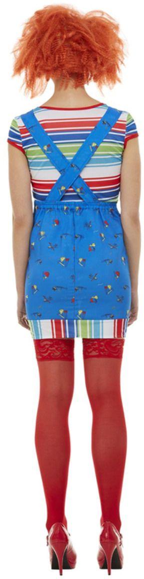 Blauw chucky kostuum meisjes
