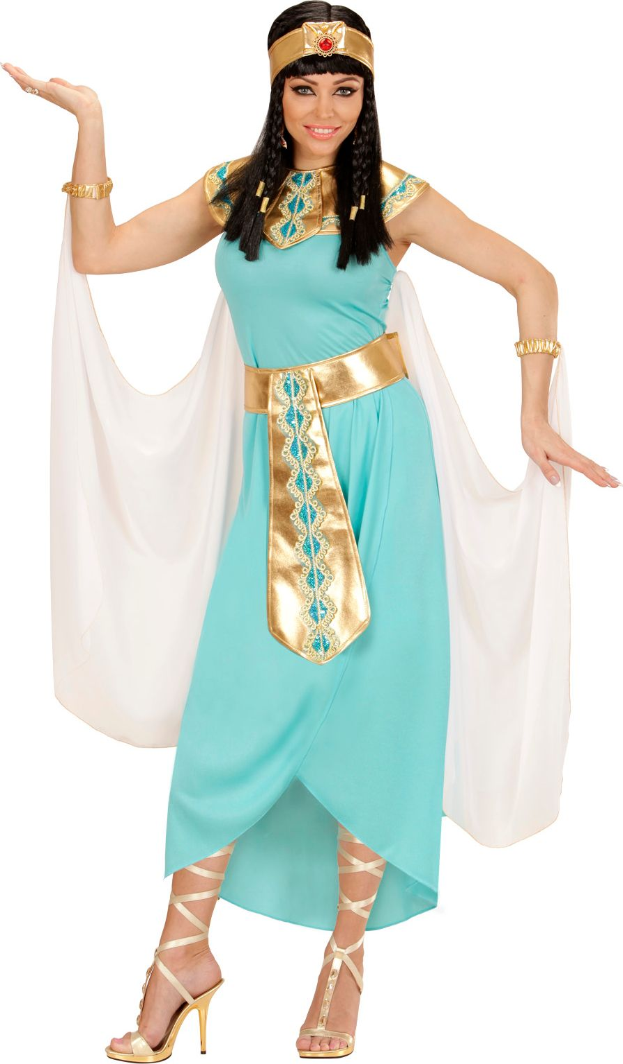 Blauw Cleopatra kostuum