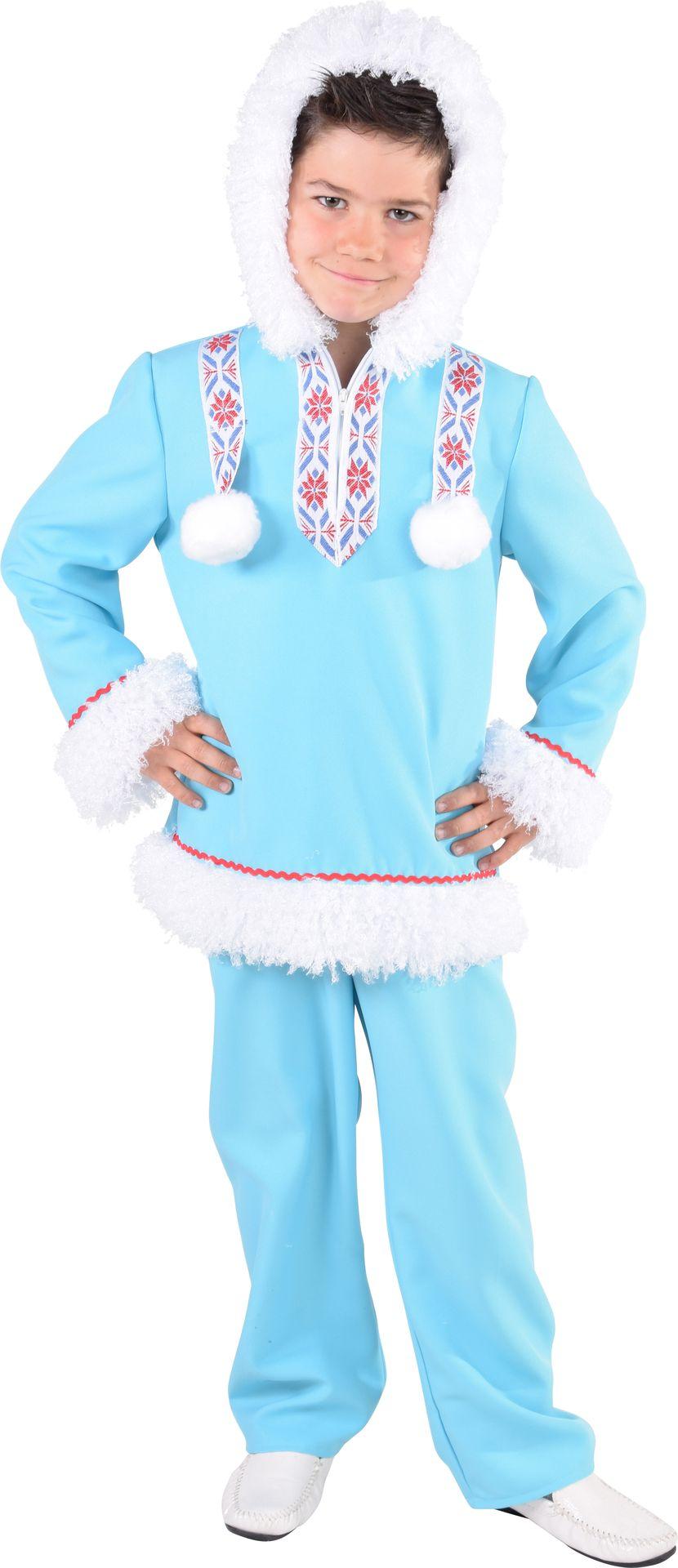 Blauw eskimo kostuum jongen