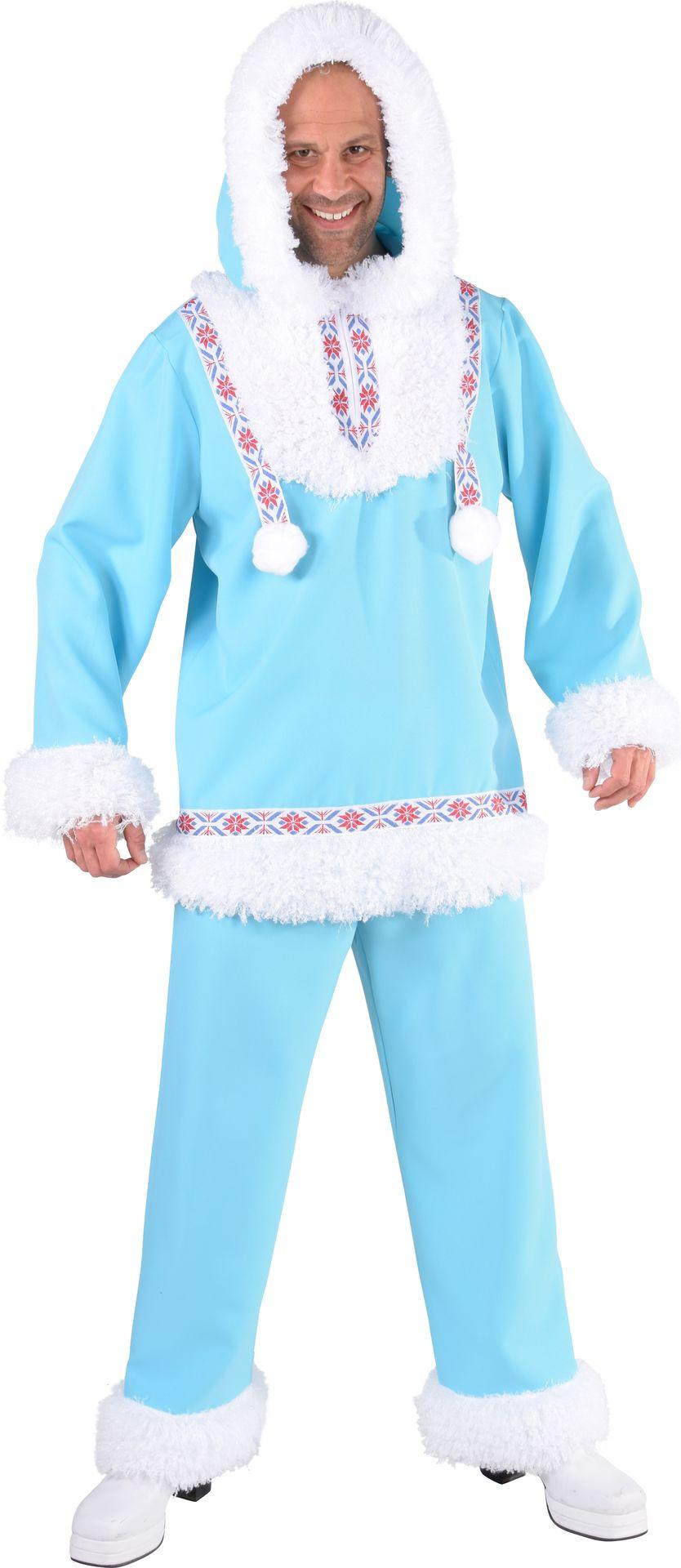 Blauw Eskimo kostuum mannen