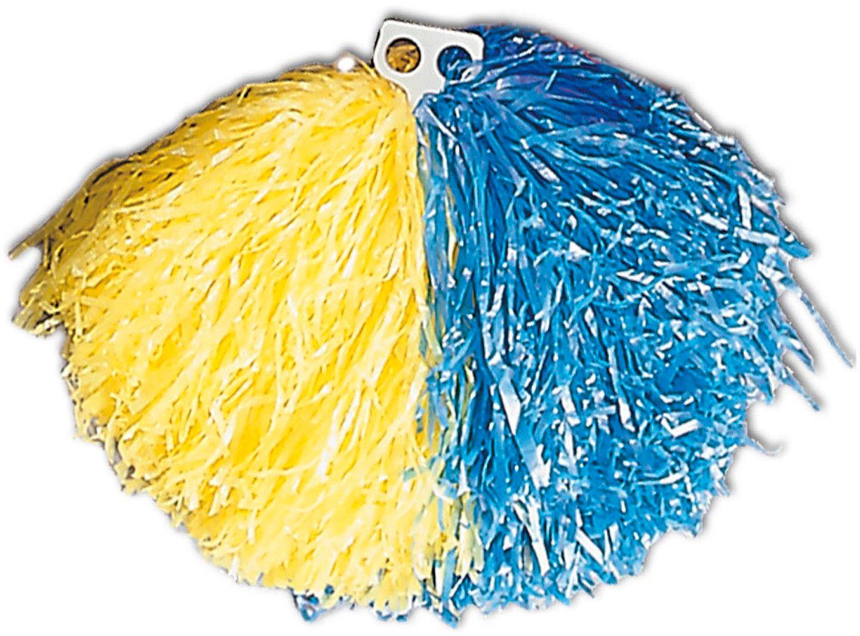 Blauw gele cheerleader Pom Pom