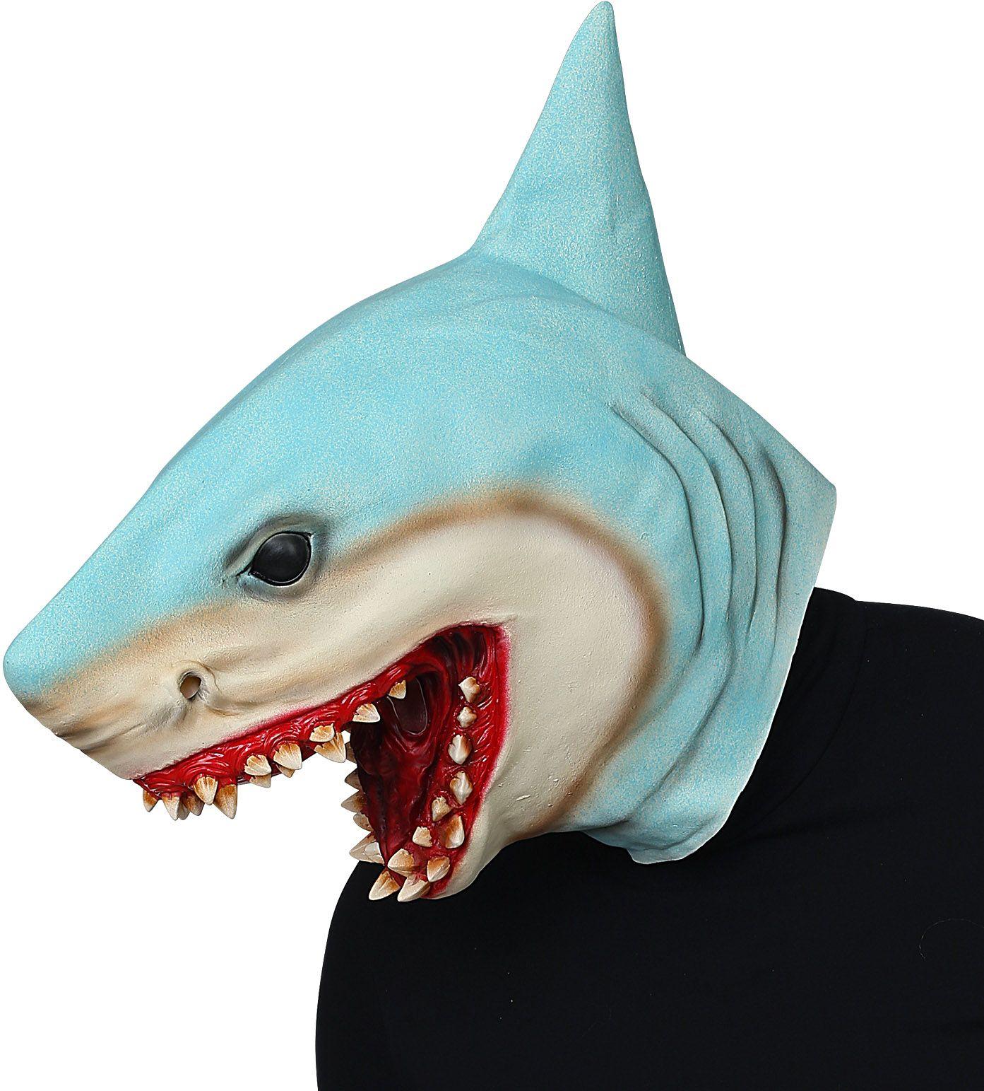 Blauw horror masker haai